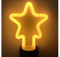 Bombilla led con forma de estrella E27 4W cálida