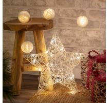 Estrella con guirnalda de luces led