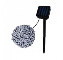 Guirnalda cable led solar 22m cálida