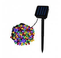 Guirnalda cable led solar 22m RGB