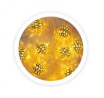 Guirnalda de bolas led doradas 1m