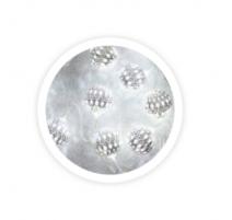 Guirnalda de bolas led plateadas 1m