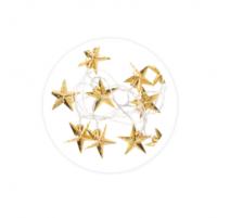 Guirnalda de estrellas led doradas 1,5m
