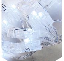 Guirnalda de pinzas led transparentes 1,5m